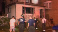 Two Chicago firefighters suffered minor injuries in an extra-alarm fire on the city's Southeast Side.
