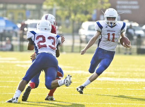Photo Gallery: Mercer County football vs. Allen County-Scottsville 082512 To purchase photos visit http://amnews.mycapture.com