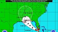 Tropical Storm Isaac is projected to approach the Keys on Sunday afternoon.