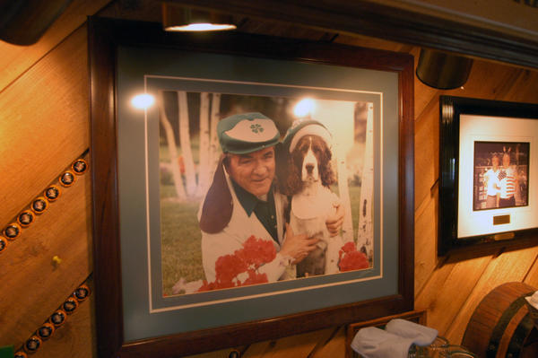This portrait of the original Teddy Griffin hangs behind the bar at Teddy Griffin's Roadhouse in Harbor Springs, which he opened 25 years ago.