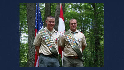 Berlin Boy Scout Troop 135 convened a Court of Honor to celebrate cousins, Luke Thomas Sprowls (left) and Samuel David Dively's (right) achieving the rank of Eagle Scout.