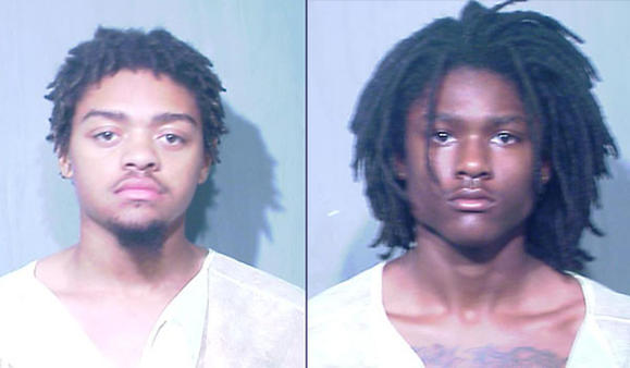 Michael Tucker, 20 (left) and Kiontae A. Mack, 17. Police booking photos