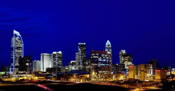 Democrats will be greeted by the glitzy skyline of North Carolina's largest city, Charlotte, which projects a cutting-edge image in what is certainly not the Old South.