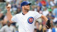 Cubs starter Chris Volstad was on the verge of ending a 24-start winless streak Sunday night at Wrigley Field when a steady rain turned into a downpour, delaying the ending of the longest nightmare of his life.