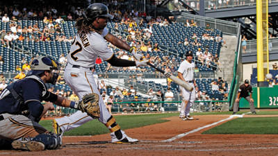 Pittsburgh Pirates' Andrew McCutchen strikes out swinging against the Milwaukee Brewers on Sunday.