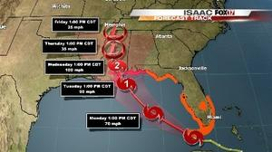 Isaac Threatens Louisiana