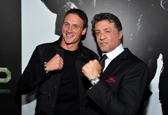 Ryan Lochte and Sylvester Stallone