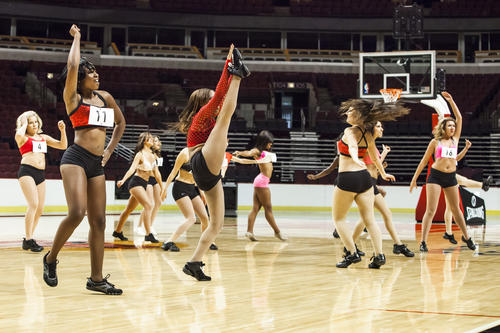 Dancers from around the country compete at the United Center for a position on the Chicago Luvabulls cheer squad