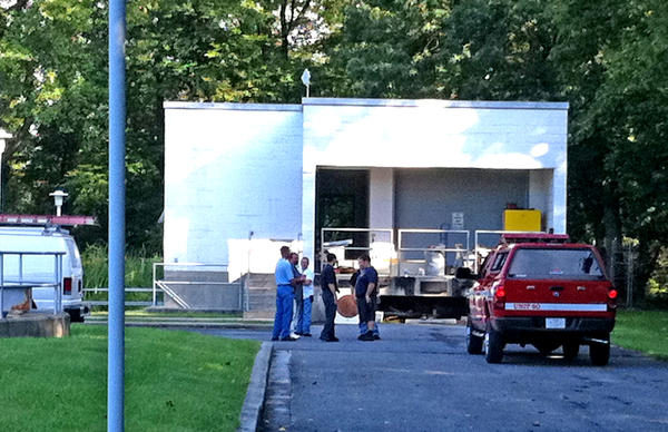 About four pounds of chlorine escaped from a tank in a building at a water treatment plant in Cascade overnight.