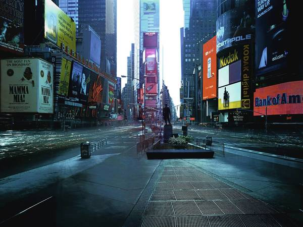 ON-AIR Project 110-2, The New York Series, Times Square, eight-hour exposure, 2005, chromogenic print, 188 x 248 cm, 96 x 126 cm