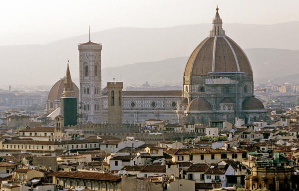 "Known as the ""cradle of the Renaissance,"" Florence is overflowing with beautiful pieces of art and architecture. Before even setting foot inside a museum, visitors can take a tour of Firenze to bask in all of the great architecture that makes up the city. From palaces to monuments to religious buildings, the city itself is a giant museum of master architectural work that is sure to leave folks breathless. Once inside these beautiful buildings, be sure to visit Galleria dell' Accademia (Academy Gallery), which is home to Michelangelo's David, or the Galleria degli Uffizi (Uffizi Galleries), to view works from artists such as Giotto, Botticelli, Raphael and Leonardo da Vinci.  (Above: The famous Duomo, right, and nearby Campanile tower and Baptistery buildings rise over Florence, Italy.)"