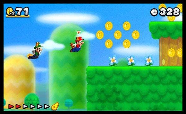 "A shot of ""New Super Mario Bros. 2."""
