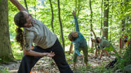 "Explore Patapsco Valley State Park on a yoga hike with AmeriCorps program volunteer Maria Reusing. The 90-minute hike covers a little more than two miles and ""has yoga, exercise, meditation, hiking with strength training and balancing stops along the way,"" says Reusing."