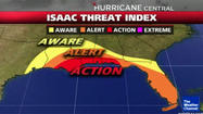 Tropical Storm Isaac, expected to make landfall Tuesday, could bring powerful winds, heavy rain and a storm surge of 6 to 12 feet, forecasters predict. Michael Lowry, a meteorologist with the storm surge group at the National Hurricane Center in Miami,  explained what that could mean for Gulf Coast residents.