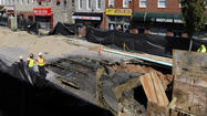 City refills Monument Street sinkhole, sticks to repair forecast