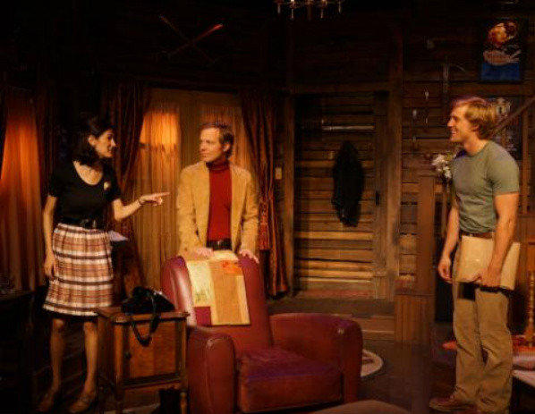 "A scene from Ira Levin's ""Deathtrap,"" which was produced earlier this year at the Los Angeles Gay and Lesbian Center. The production featured, from left, Cynthia Gravinese, Brian Foyster and Burt Grinstead."