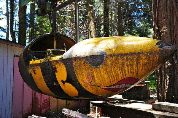 Del Dickson photographed a dilapidated ride at Santa's Village near Lake Arrowhead during a visit to the defunct amusement park earlier this year. The park opened in 1955 and closed in 1998. Vestiges of the former tourist attraction still decorate the San Bernardino Mountains.