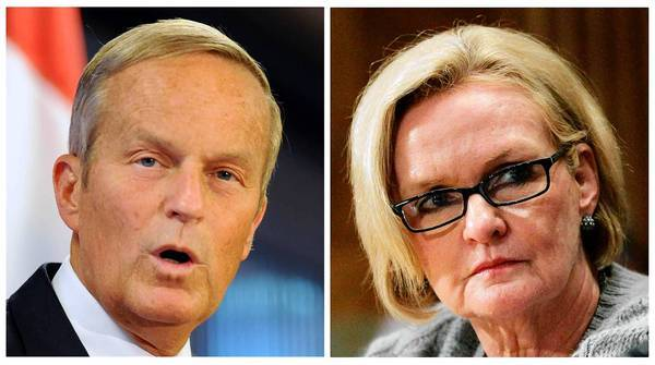 "Missouri Republicans had high hopes that Rep. Todd Akin would unseat unpopular Democratic Sen. Claire McCaskill in November. But his remark about ""legitimate rape"" has changed everything."