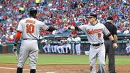 Left fielder Nate McLouth did it again. He already had provided the margin of victory with a two-run home run in last Tuesday's game against the first-place Texas Rangers, and he launched a long two-run shot to right field off reliever Brett Myers on Monday to bring the Orioles from behind against the first-place Chicago White Sox.