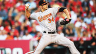 The Orioles optioned right-hander Jake Arrieta back to Triple-A Norfolk following Monday's 4-3 win over the White Sox to make room on the 25-man roster for newly acquired left-hander Joe Saunders, who joined the team during the game Monday.