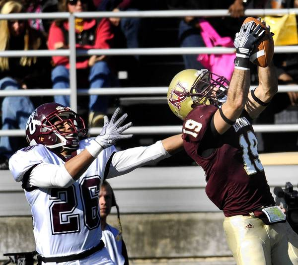 Kutztown All-American defensive back Alex DiNolfi led the nation in interceptions last season.