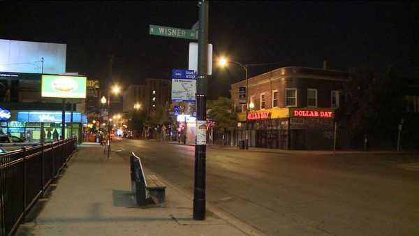 Two teens were shot as they sat on a porch in the 2900 block of North Wisner Avenue in the Logan Square neighborhood, police said.