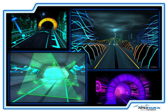 Disney Epcot Test Track renderings