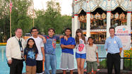 "Before honoring their late father at this week's ""Goin' Back to Indiana"" celebration in Gary, Indiana, Michael Jackson's children -- Prince, Paris and Blanket -- visited Six Flags Great America in Gurnee Monday."