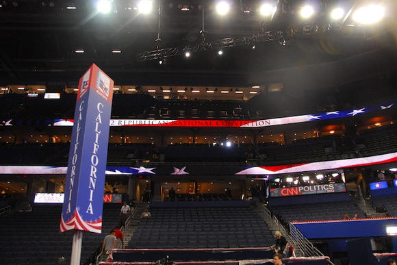 The inside of the Tampa Bay Times Forum on Sunday, Aug. 26.