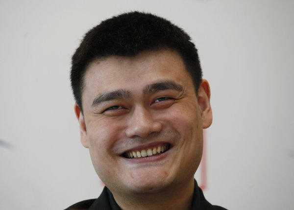 Yao Ming during a media event in May.