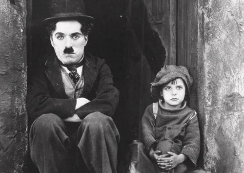 The unpaved streets of old Chinatown (demolished in the 1930s to make way for Union Station) as the slums the Little Tramp and the Kid (Charlie Chaplin and Jackie Coogan) inhabited in Chaplin's classic film.