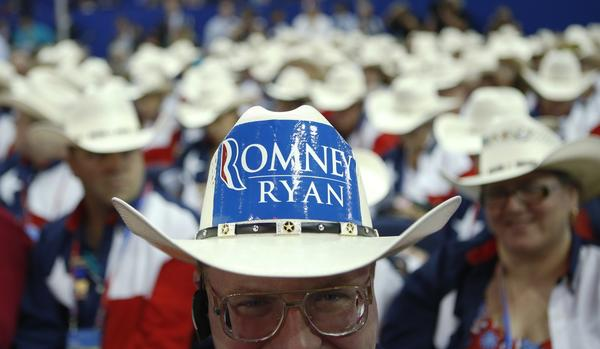 The headgear of the Republican National Convention - Texas delegates
