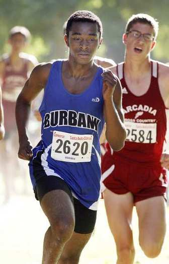 Isaiah Amos is a key returner for the Burbank High boys' cross-country team this season