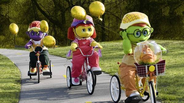"""The Oogieloves are the stars of """"The Oogieloves in the Big Balloon Adventure."""""""
