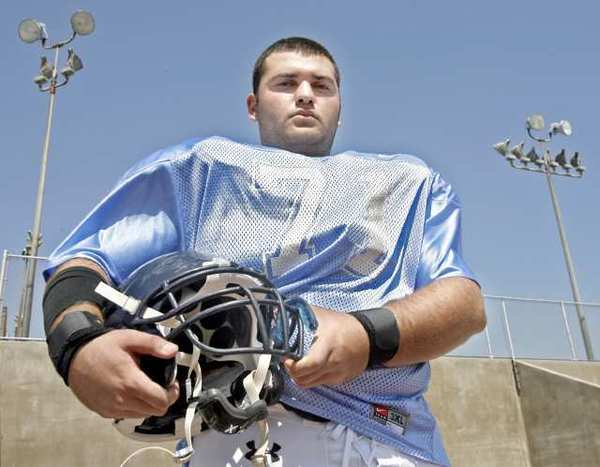Crescenta Valley High football offensive guard Andrew Kiorkof is ready for the 2012 season.