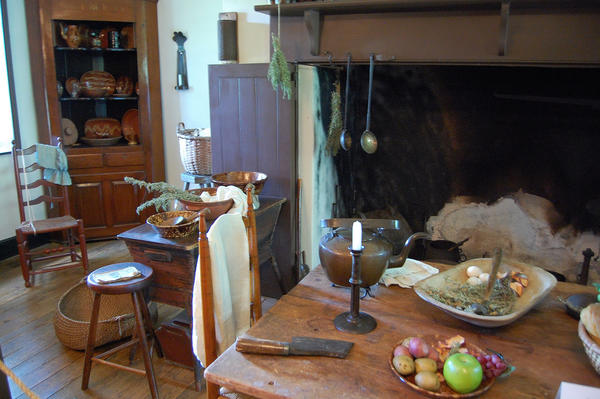 The inside of the Royer home at Renfrew Museum and Park looks much like it did in bygone days.