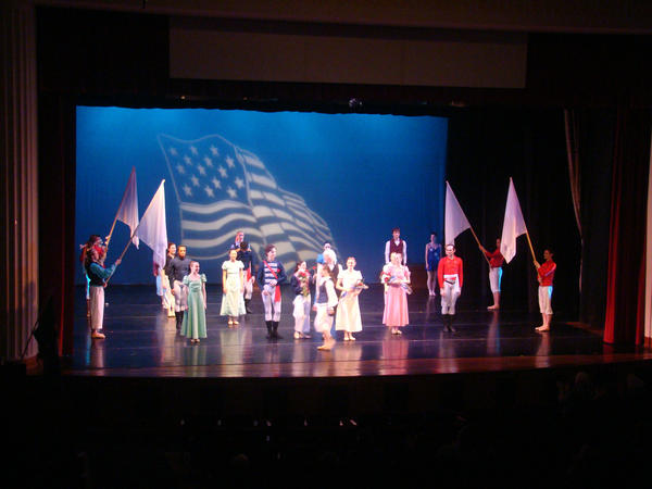 "Ballet Theatre of Maryland performs ""Star-Spangled Sketches"" last year. On March 17, 2013, the company will present ""Frontier: The War of 1812 on the Chesapeake"" as part of the Performing Arts Association of Linthicum's regional concert series."