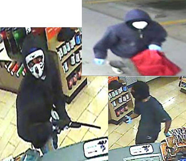 The Harford County Sheriff's Office released these surveillance photos of suspects in the armed robbery of an Edgewood 7-Eleven on Aug. 13.