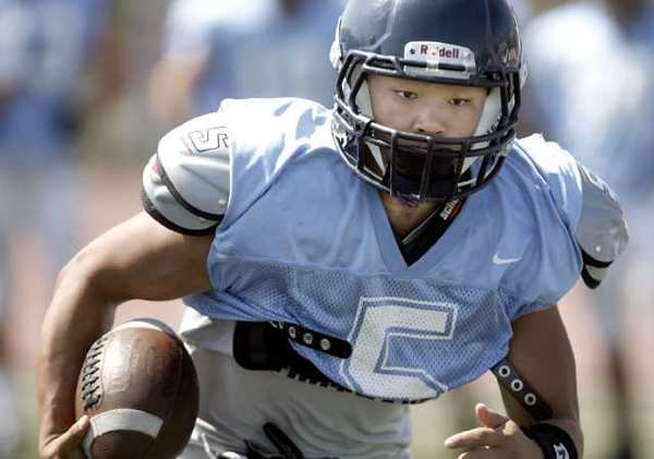Crescenta Valley High football player William Wang, a key piece of the football program.