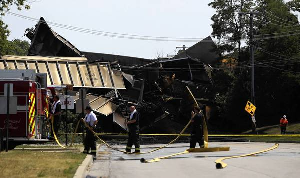 The July 4 derailment killed two people at Willow and Shermer roads in Northbrook.