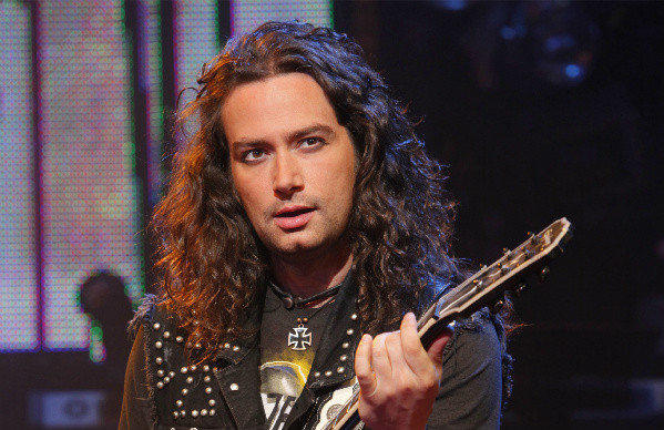 """American Idol"" alumnus Constantine Maroulis in a scene from the musical ""Rock of Ages."""
