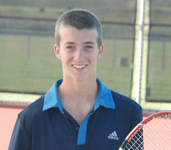 Petoskey's Mitch Reynolds, who normally plays doubles, filled in at No. 3 singles Tuesday and won his match against Cadillac, helping the Northmen to a 6-2 victory.