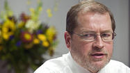 TAMPA, Fla. -- Maryland's delegation to the Republican National Convention doesn't include any headline speakers, but there is a nationally recognized figure within its ranks: Anti-tax advocate Grover Norquist.
