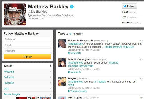 Matt Barkley's Twitter page