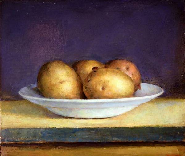 """Potatoes,"" by Stephen Brown, at Joseloff."