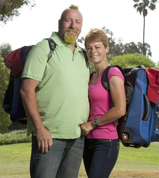 'The Amazing Race 21' cast pictures: Name: Rob French Age: 46 Hometown: Boston, Ga. Current occupation: Professional Monster Truck Driver   Name: Kelley Carrington-French Age: 50 Hometown: Boston, Ga. Current occupation: Professional Monster Truck Driver Connection: Married Monster Truckers