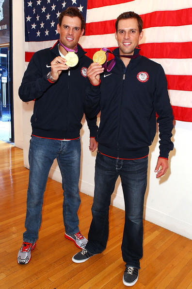 """Helping others, while not getting paid to do so, takes an incredible amount of passion and dedication. Volunteers give their time because they want to, not because they have to,"" said Olympic tennis player Bob Bryan, right, who earned a gold medal in men's doubles with twin brother Mike Bryan, pictured left, at the 2012 Summer Olympics in London."