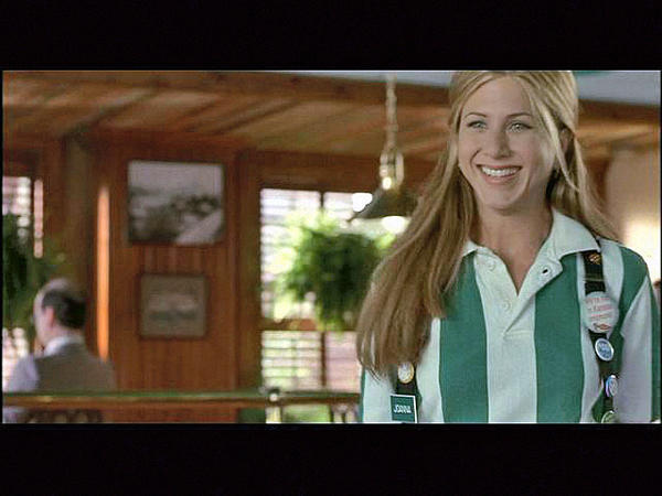 """Jennifer Aniston sports her flair in """"Office Space."""""""
