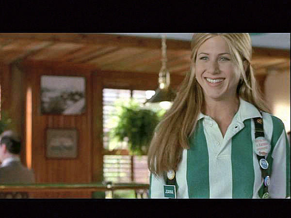 "Jennifer Aniston sports her flair in ""Office Space."""