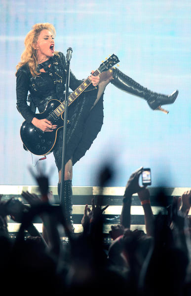 Madonna performs the first show of her North American MDNA tour at the Wells Fargo Center in Philadelphia on Tuesday.